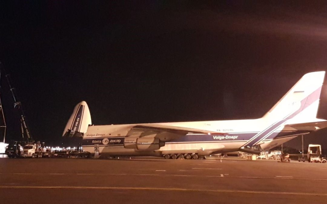 Loading Out An Antonov Aircraft for Edge Heavy Logistics